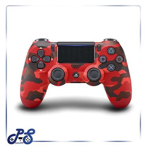 خرید-دسته-قرمز-چریکی-ps4-dualshock4-red-military-های-کپی-باتری-۸۰۰-میلی-آمپر
