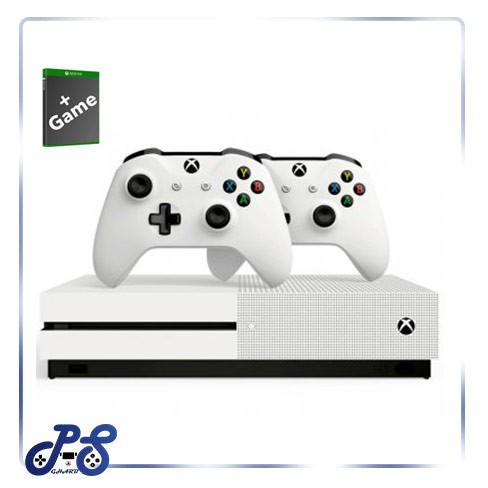 کنسول-بازی-xbox-one-s-دو-دسته-به-همراه-بازی