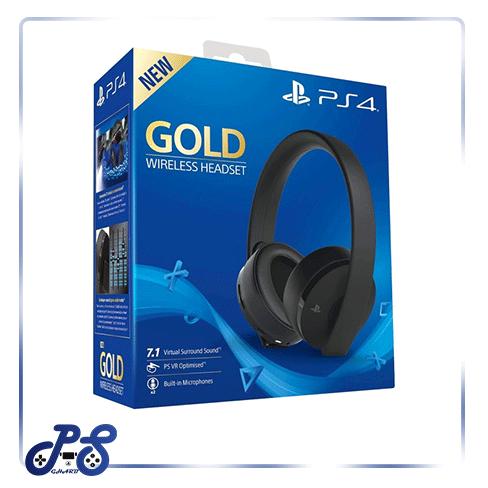 هدست گلد - Headset Gold New مشکی برای PS4
