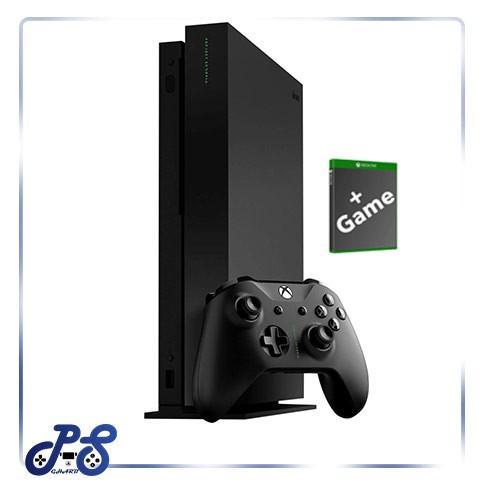 کنسول-بازی-xbox-one-x-مشکی-با-بازی-کپی-کارکرده