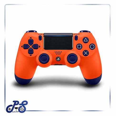 خرید-دسته-نارنجی-dualshock4-sunset-orange-های-کپی-باتری-۸۰۰-میلی-آمپر-با-یک-ماه-گارانتی